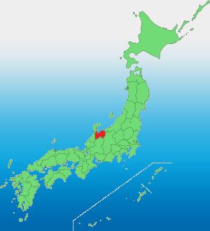 富山県の位置