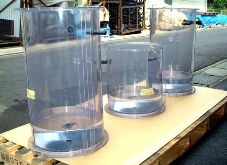 メタフリー透明円筒タンク